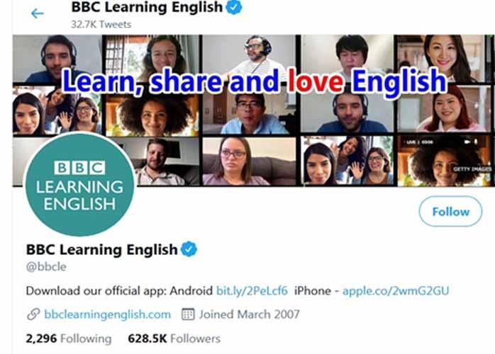 اموزش زبان با توئیتر bbc