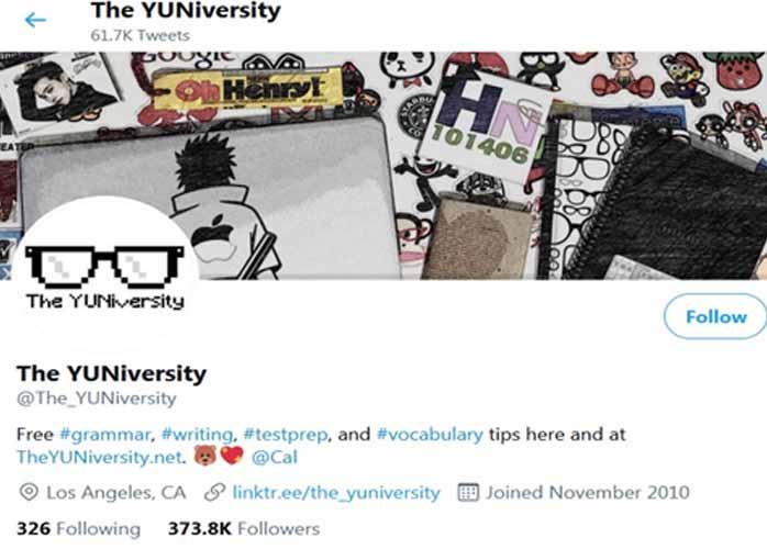 آموزش زبان با توئیتر the university