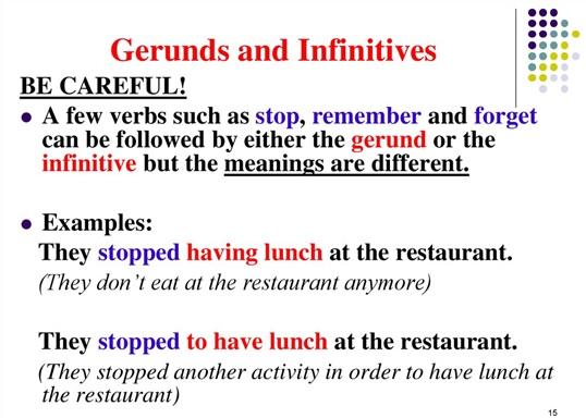 gerund يا infinitive